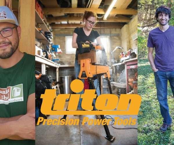 Woodworking YouTube trio become Triton ambassadors