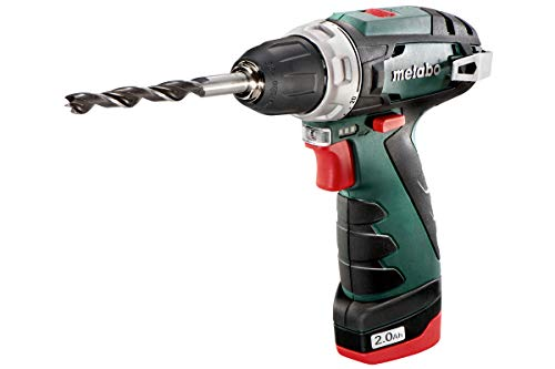 Metabo 10.8 V Powermaxx BS Drill Driver with 2 x 2 A Batteries – Green/Black