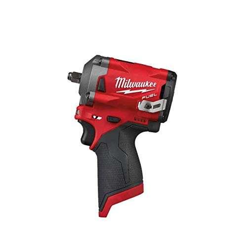 Milwaukee M12 Impact Wrench, 12V Li-Ion, 3/8, Square – M12FIW38-0, 12 V, Black/Red