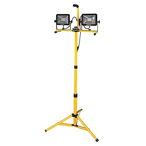 Faithfull SMD LED Twin Head Tripod Sitelight 3600 Lumens 40 Watt 110 V