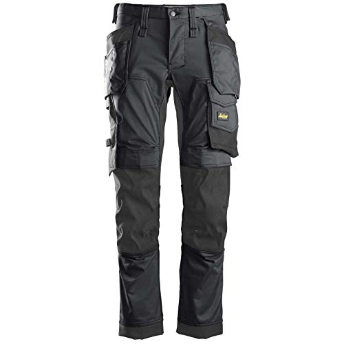 Snickers Workwear Unisex_Adult Trousers, Black, 48