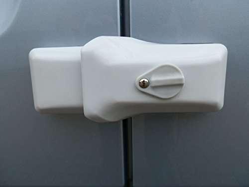 Milenco High Security Van Door Locks Triple Pack White Sold Secure Gold