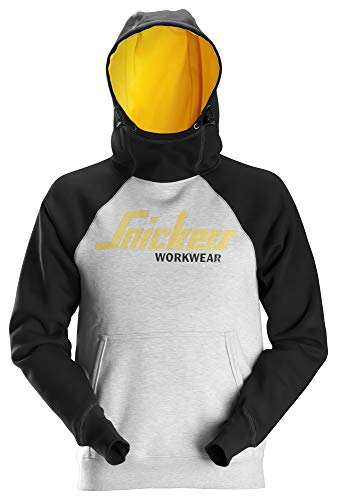 Snickers 2889 Allroundwork Logo Hoodie Grey/Black XXL