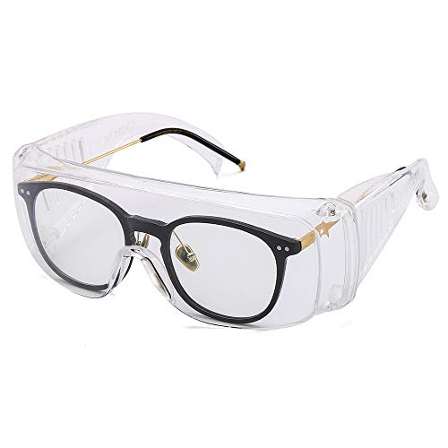 EPODA Safety Over-Glasses,Anti-Fog Over-Specs Workplace Goggles for Construction, Laboratory, Chemistry, Personal or Professional Use