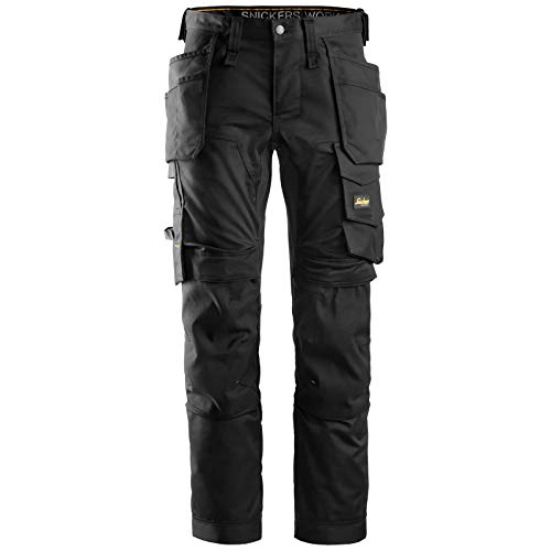 Snickers 6241 AllroundWork, Stretch Trousers Holster Pockets Black Waist: 33″ Inside Leg: 30″ *One Size Only – Outlet Store* Black 33″ 30″