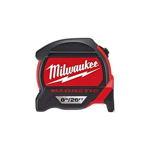 Milwaukee Premium Magnetic Tape Measure HP8-26Mg/27, Red/Black
