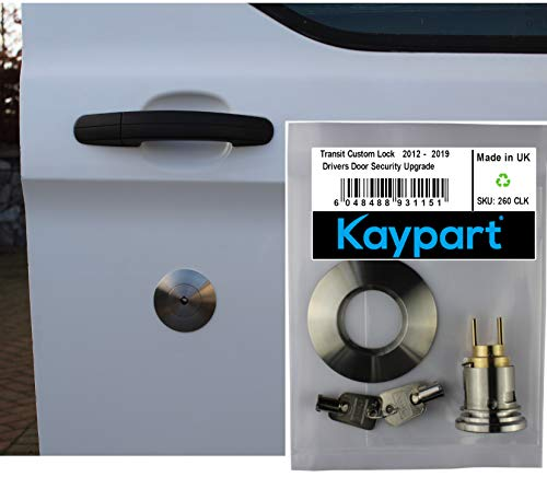 Kaypart Lock Security Upgrade For Ford Transit Custom Drivers Door, Van Lock Replacement