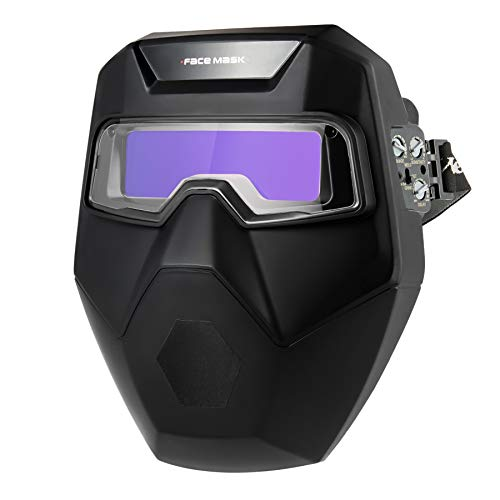 Orion Motor Tech Auto Darkening Welding Helmet with Welding Goggles & Face Shield, 2 Arc Sensors Self Tinting Welding Helmet for TIG MIG Plasma Arc Welding Cutting Grinding