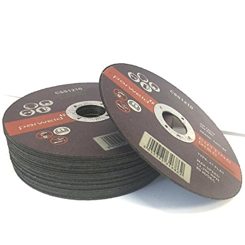 (Pack of 100) Parweld (5″) 125mm x 1mm Thin Stainless Steel Cutting Discs – Metal Slitting Discs