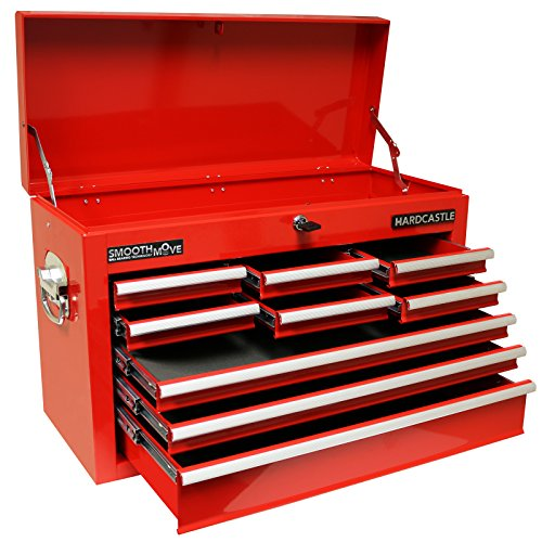 Hardcastle 9 Drawer Red Lockable Topchest Tool Box