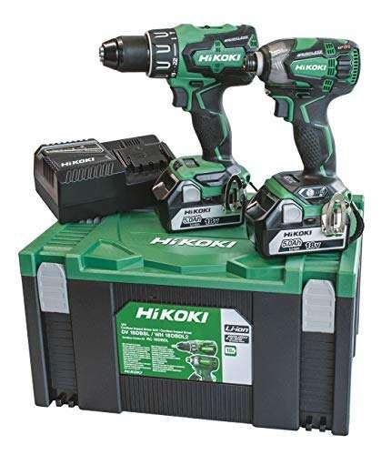 Hikoki 2 Batteries 18 V 5 Ah Uc18Yfsl Plus Stackable Case