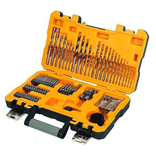 JCB 100pc 100 Piece Drill bit Tool Set in case