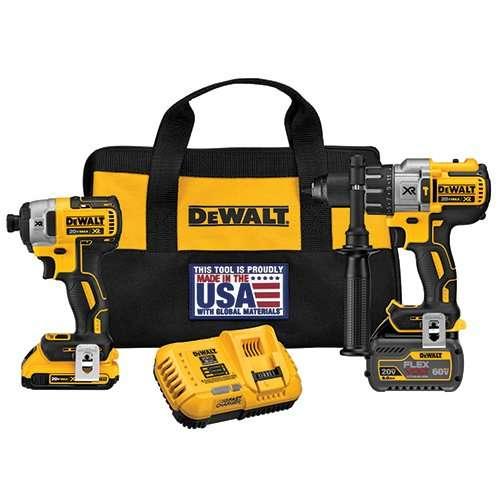 DEWALT 20V MAX FLEXVOLT Brushless Premium Hammer Drill and Impact Combo Kit by DEWALT