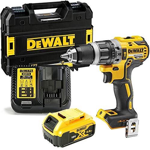 Dewalt 18v XR Brushless Combi Drill with 1 x 5Ah Battery, Charger & Case