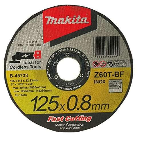 Makita B-45727 Cutting Disc, Metal, 125×0,8 mm 45733