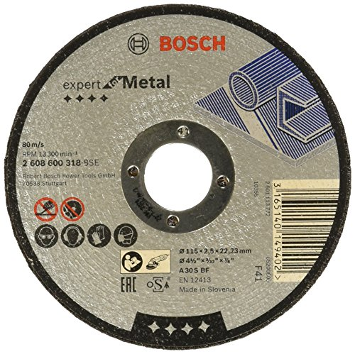 Bosch 2608600318 – Straight Cutting Disc – Metal A 30 S Bf, 115 Mm, 2.5 mm (pack of 1)