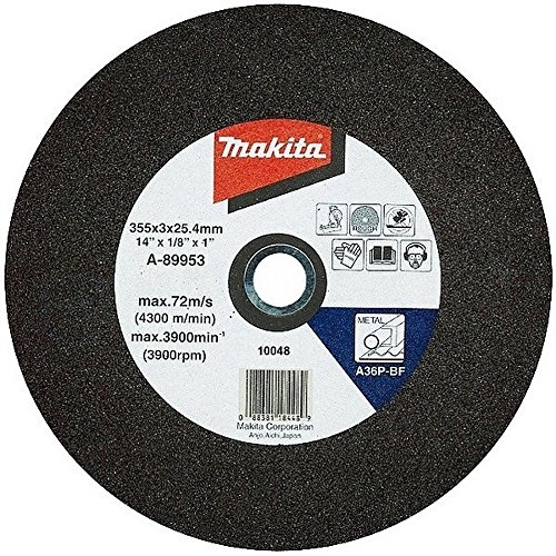 Makita B-10643 B-10665-5 355MM Abrasive CHOP Saw Wheels (Pack 5), Blue