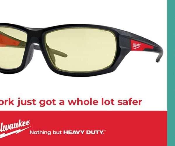 MILWAUKEE® enhances jobsite safety with expansion of Safety Glasses Range