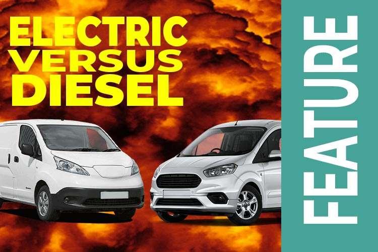 Electric Vans versus Diesel Vans