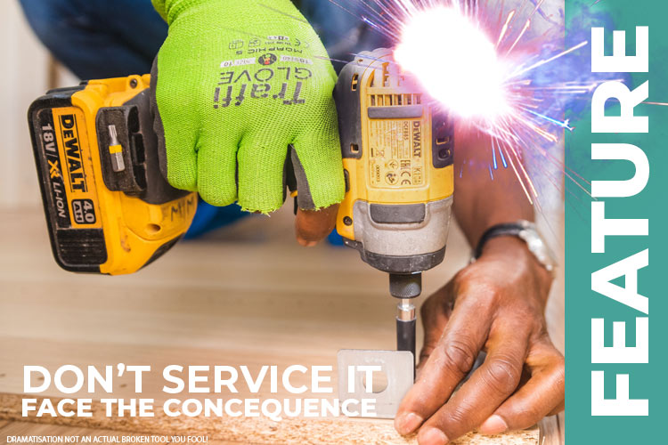 What could happen to you if you don't service your tools?